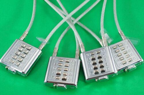 Lot of 4 Universal Gun Lock Cable Lock Combination Lock New