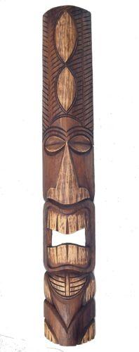 Tiki Masque 100 cm Motif Masque Hawaii holzmaske Masque Hawaii Ohau Mers du Sud