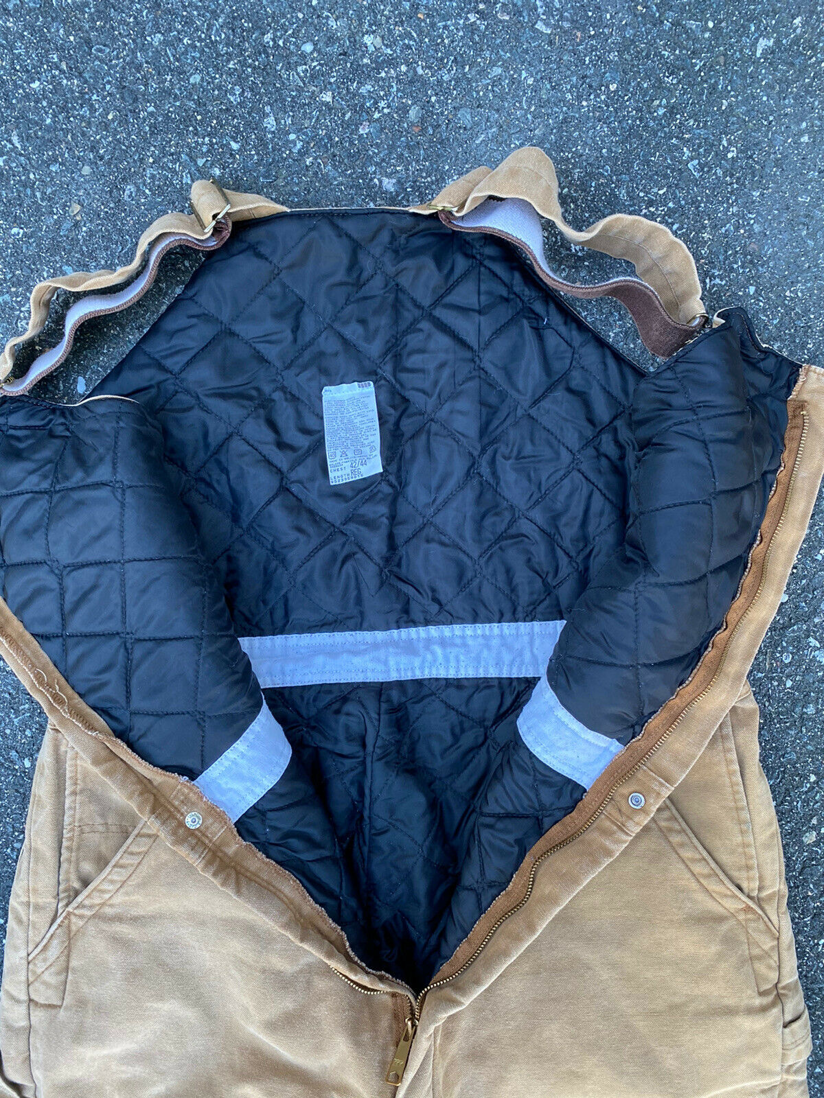 DICKIES INSULATED BIB OVERALLS DUCK BROWN SIZE 42… - image 7