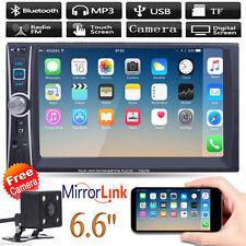 """TELECAMERA AUTO DOPPIO +6.6"""" 2DIN MP5 MP3 lettore TV RADIO STEREO BLUETOOTH Touchscreen"""