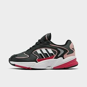 Details about Women's adidas Originals Falcon 2000 Casual Shoes  Grey/Black/Pink Spirit FU9589