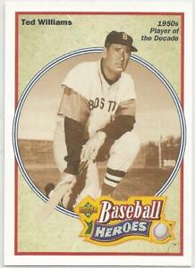 1992-UPPER-DECK-BASEBALL-HEROES-33-TED-WILLIAMS-BOSTON-RED-SOX