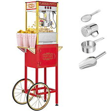 Zokop 8oz Vintage Style Popcorn Machine Maker Popper Amp Cart Corn Popper Scoop