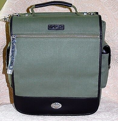 $258 New NWT Bodhi Brown Vintage Canvas Laptop Flight Carrying Bag Travel