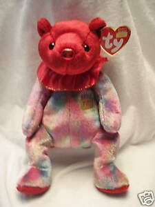Image is loading Ty-Beanie-Babies-July-Birthday-Bear-Retired-New- 32d612d5ad3