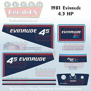 Image Is Loading 1981 Evinrude 4 5 HP Outboard Reproduction 11