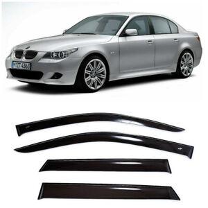For BMW X6 2008-2014 Window Visor Sun Guard Outside Mount Dark Grey 4pcs