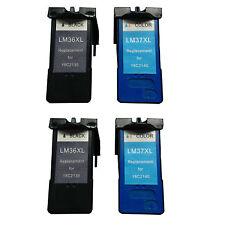 Ink Cartridge for Lexmark 36XL/37XL (2 Black 2 Color)