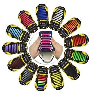 16PCS-Easy-No-Tie-Shoelaces-Unisex-Elastic-Flat-Shoe-Lace-Sneaker-Silicone-Laces