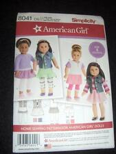 "18"" DOLL American Girl NEW Simplicity 8041/0539 Pattern Leggings ShirtsTops"