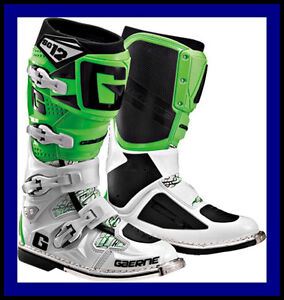 New Gaerne Mx Sg 12 Motorcycle Motocross Boots Sg12 Green