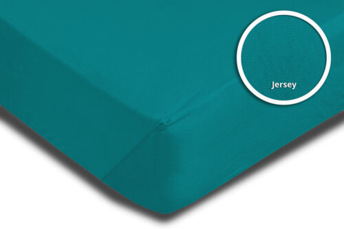 Fitted Sheet 180x200 cm 200x200 cm Petrol Green Jersey Fitted Sheet