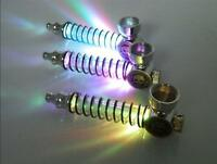 Tobacco Pipe Skull Smoking Colorful LED Pipe Portable Spring Tube Flashing Light