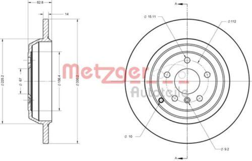 Bremsbeläge HINTEN für MERCEDES M-KLASSE METZGER Bremsscheiben 330mm