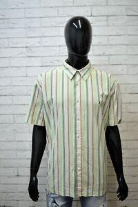 Camicia-Uomo-TOMMY-HILFIGER-Taglia-3XL-Manica-Corta-Cotone-Shirt-Man-Maglia