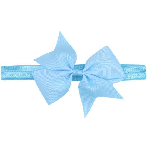 Girls Baby Toddler Turban Ribbon Headband Hair Band Bow Accessories Headwear New