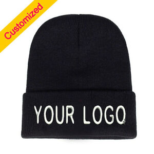 17b8d601975 Image is loading Personalized-Customized-Beanie-Hat-Skullie-Cap -Slouchy-Winter-