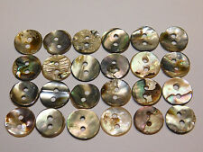 Abalone Buttons 12mm (Set of 24 Mother of Pearl Antiques) Handmade Sewing Crafts