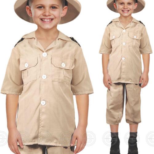 BOYS SAFARI EXPLORER FANCY DRESS COSTUME JUNGLE ZOO KEEPER CHILDS KIDS OUTFIT