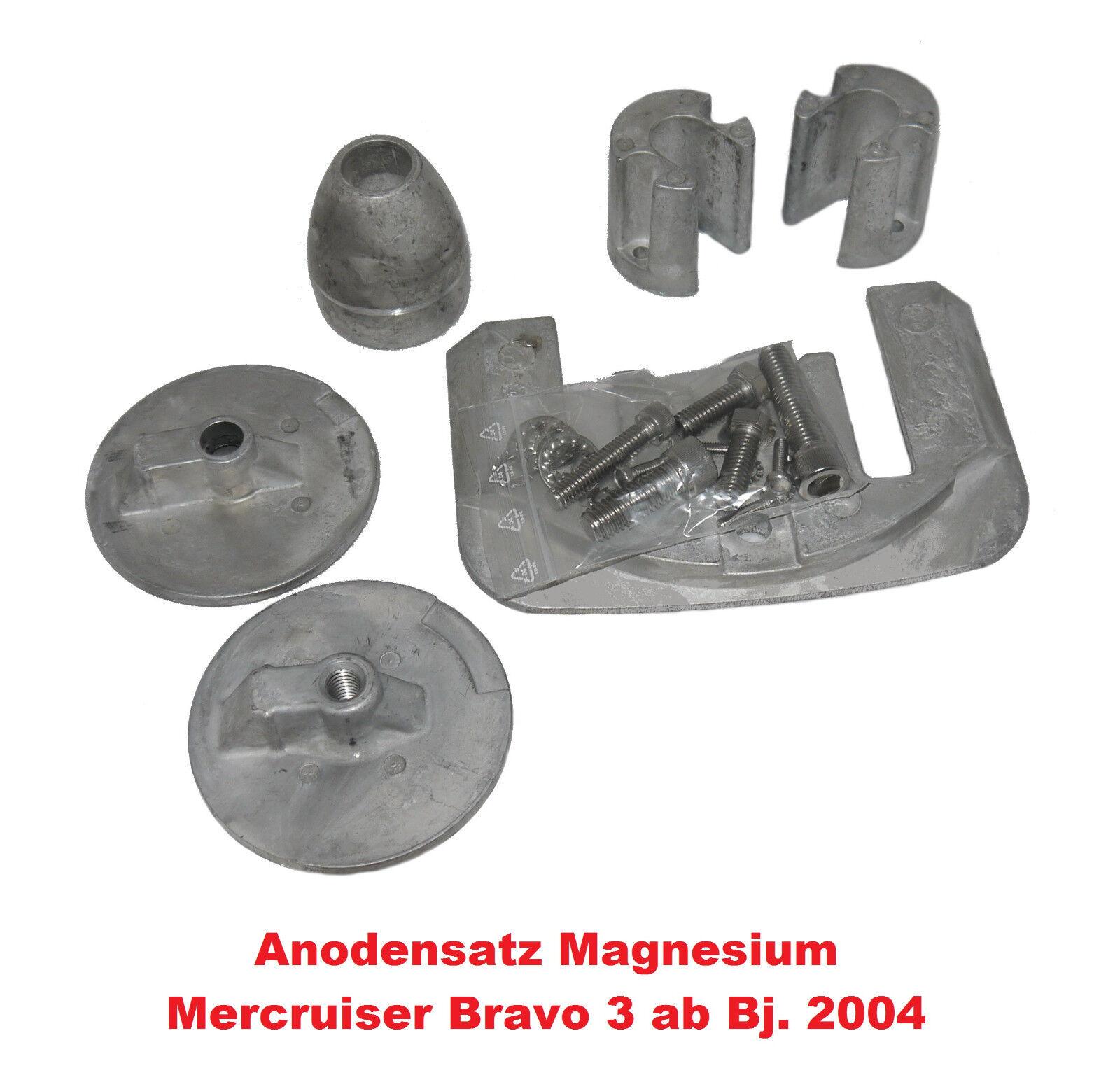 Mecruiser Bravo III Anodensatz ab Bj2004 Magnesium Anodensatz III Anode für Innenborder 01af8e