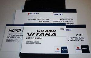 suzuki grand vitara owners manual set guide  wcase