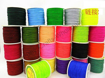 3Pcs Green Woven Macrame Cord Thread For DIY Bracelet Necklace Making Roll Bunch