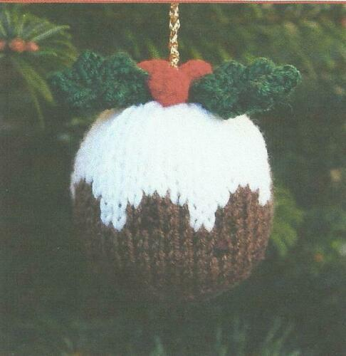 Knitting Pattern for Christmas Pudding Arbre Décoration