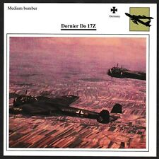 Germany Dornier Do 17Z Medium Bomber Warplane Aviation Card - I Combine S/H