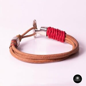 Kavak - Handmade Braided Leather Cords  Adjustable Men's Bracelet