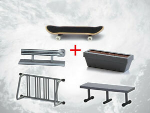 Tech-Deck-Fingerboard-With-Rail-Finger-Skate-Board-Park-Ramp-Parts-Scooter-NEW