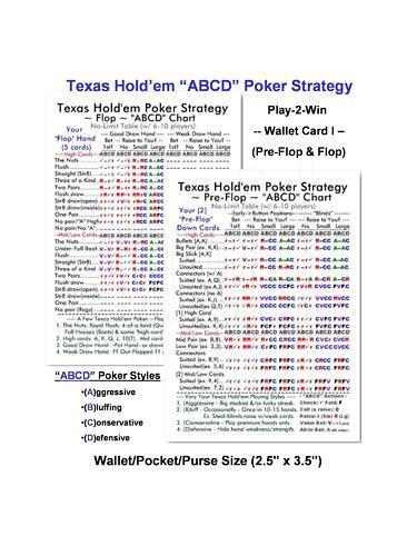 (Acheter  en Vrac) 200 Ct Texas Holdem Poker ABCD    stratégie Play - 2-Win PORTEFEUILLE voitureTES I & II  point de vente