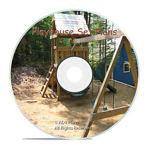 Build a playset fort playhouse swingset wood plans easy for How to make a simple wooden swing set