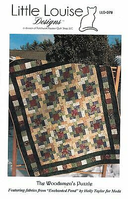 The Woodsmen's Puzzle Pattern Layer Cake Yardage or Scraps Beginner Friendly