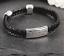 Mens-Personalised-Engraved-Black-Leather-Bracelet-Gift thumbnail 1