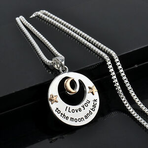 I-LOVE-YOU-TO-THE-MOON-AND-BACK-Alloy-Necklace-Pendant-Long-Chain-Silver-Gift