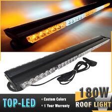 "180W 30/"" 60 LED Amber Y White Emergency Warn Hazard Double Side Strobe Light Bar"