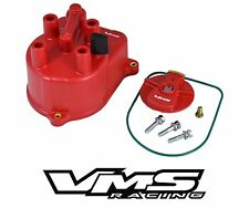 VMS RACING RED IGNITION DISTRIBUTOR CAP & ROTOR FOR FOR 96-00 HONDA CIVIC D16Y8