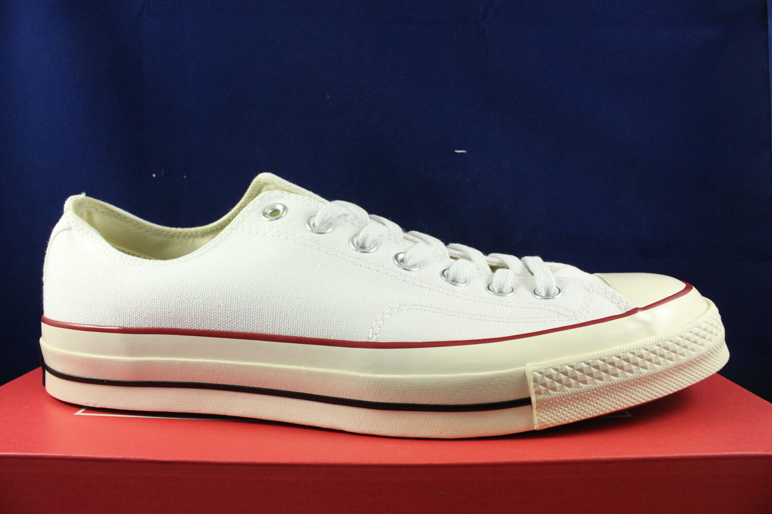 CONVERSE CHUCK TAYLOR 70 CT OX LOW WHITE RED BLUE 1970 ALL STAR 149448C SZ 10