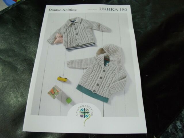 41855c36a8d5 UKHKA 180 Baby Jacket With Hood or Collar DK Knitting Pattern 16 ...