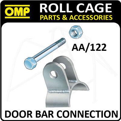 Aa / 122 Omp Roll Cage 40mm Barra Connessione + Dado / Bullone (1) Omologata Fia! Race / Rally-