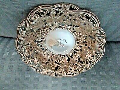 Whiting 1908 Estetica Bon Bon Plato Uvas Vine Plata Esterlina Perforado Ebay