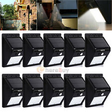 10x 16 LED Solar Power Sensor Wall Light Security Motion Waterproof Outdoor Lamp