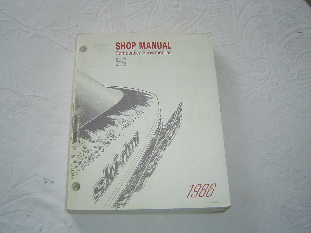 1986 Bombardier ski-doo snowmobile service  repair shop manual  factory outlet