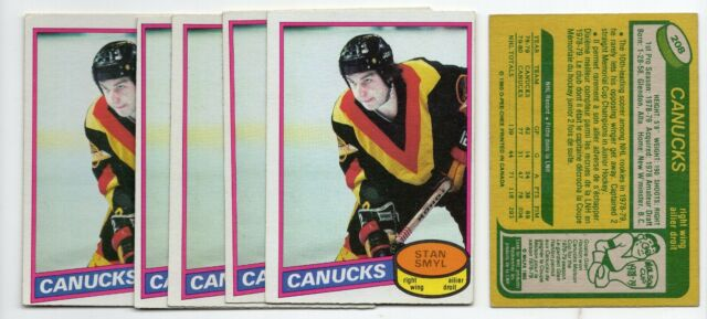 1X STAN SMYL 1980 81 O Pee Chee #208 RC Rookie EX-EXMT opc Lots Availabl CANUCKS