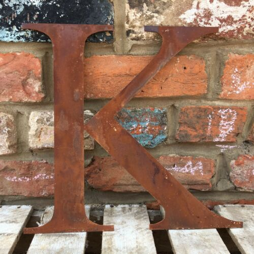 LARGE RUSTY LETTERS NUMBERS HOME SHOP WEDDING WORDS VINTAGE RUSTIC RETRO SIGN