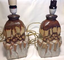 Vintage Pair Of  Art Pottery Table Lamp Bases circa 1960's