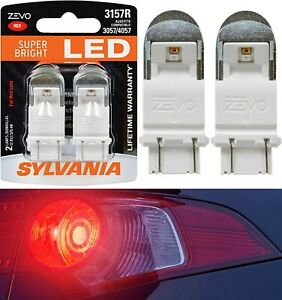 Sylvania ZEVO LED Light 3157 Red Two Bulbs Brake Stop Tail Replacement Upgrade