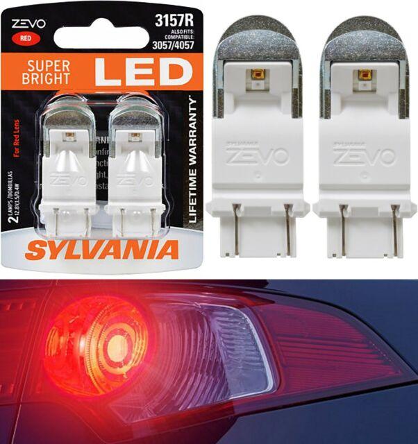 Sylvania Zevo Luz LED 3157 Rojo Dos Bombillas de Señal de Vuelta Repuesto Mejora