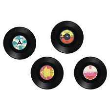 4 er Set Glasuntersetzer Untersetzer Tischschoner Bierdeckel Vinyl Schallplatte