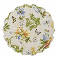 Park Designs Botanical Garden Round Place Mat Set Of 6 Quilted Table Mat